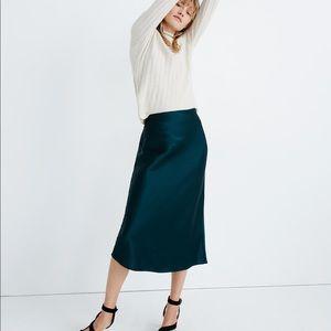 New Medewell Satin Midi Slip Skirt Size 12